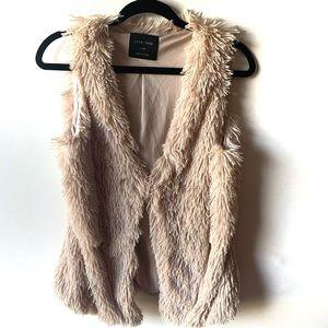 Love Tree Ivory Cream Fringe Vest Size L